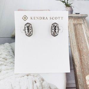 Kendra Scott Ellie filigree silver earrings